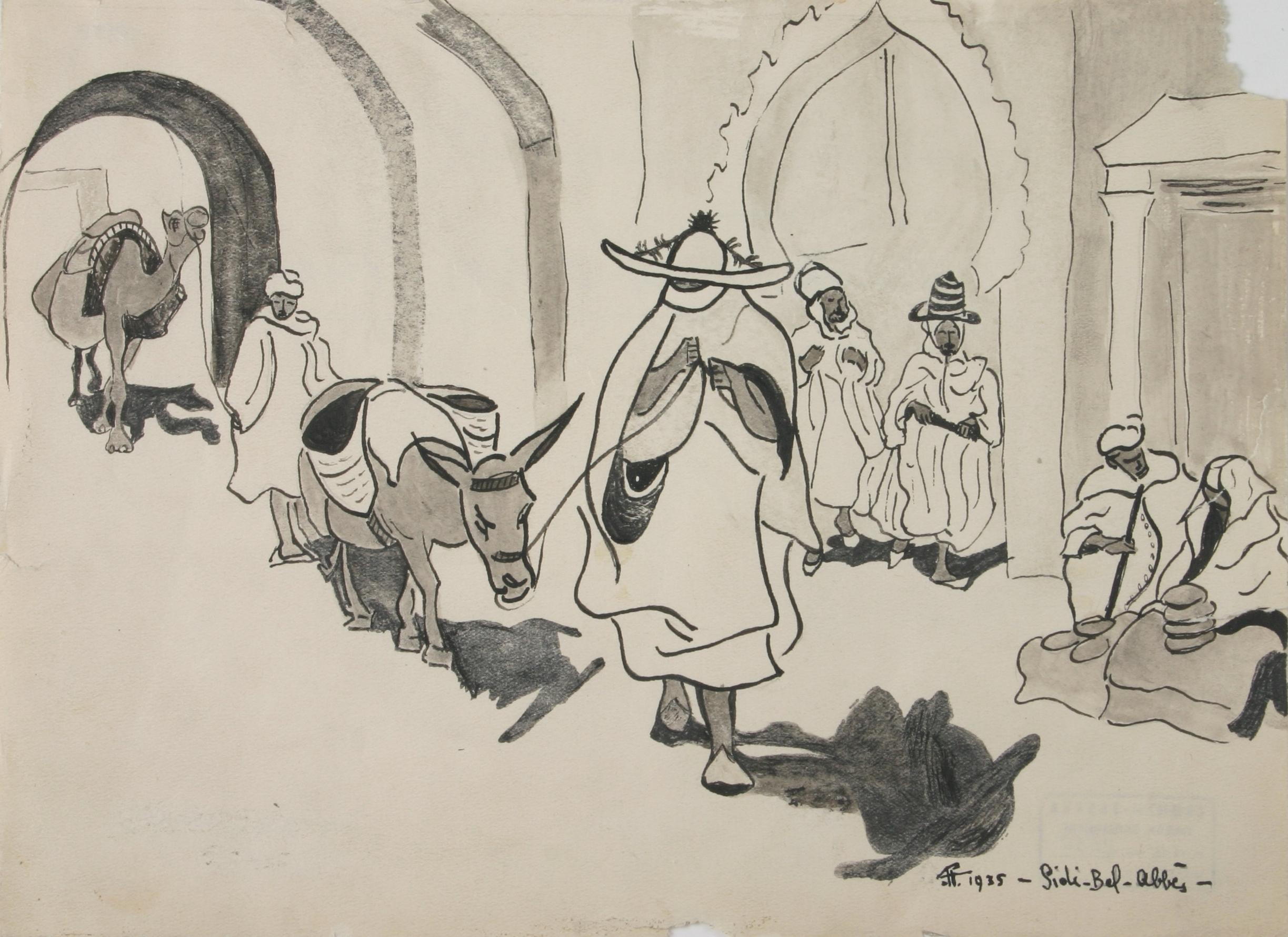 Bela Pavlovic, Sidi Bel Abes u Alziru, 1935.
